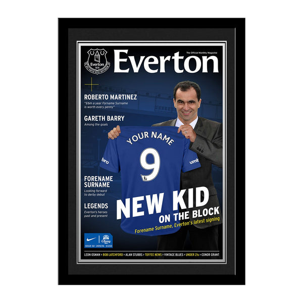 Everton FC Magazine Front Cover Photo Framed