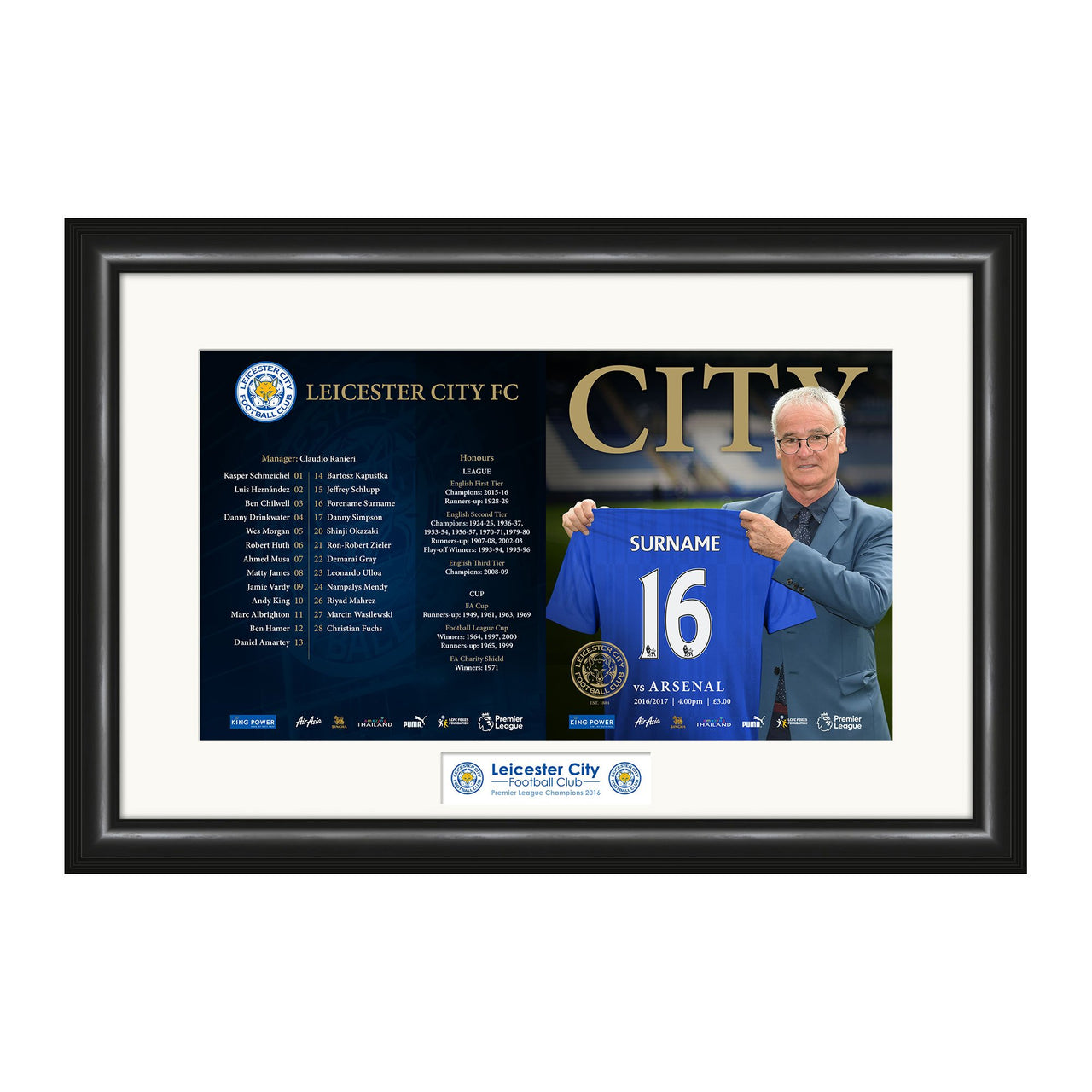 Leicester City FC Match Day Programme