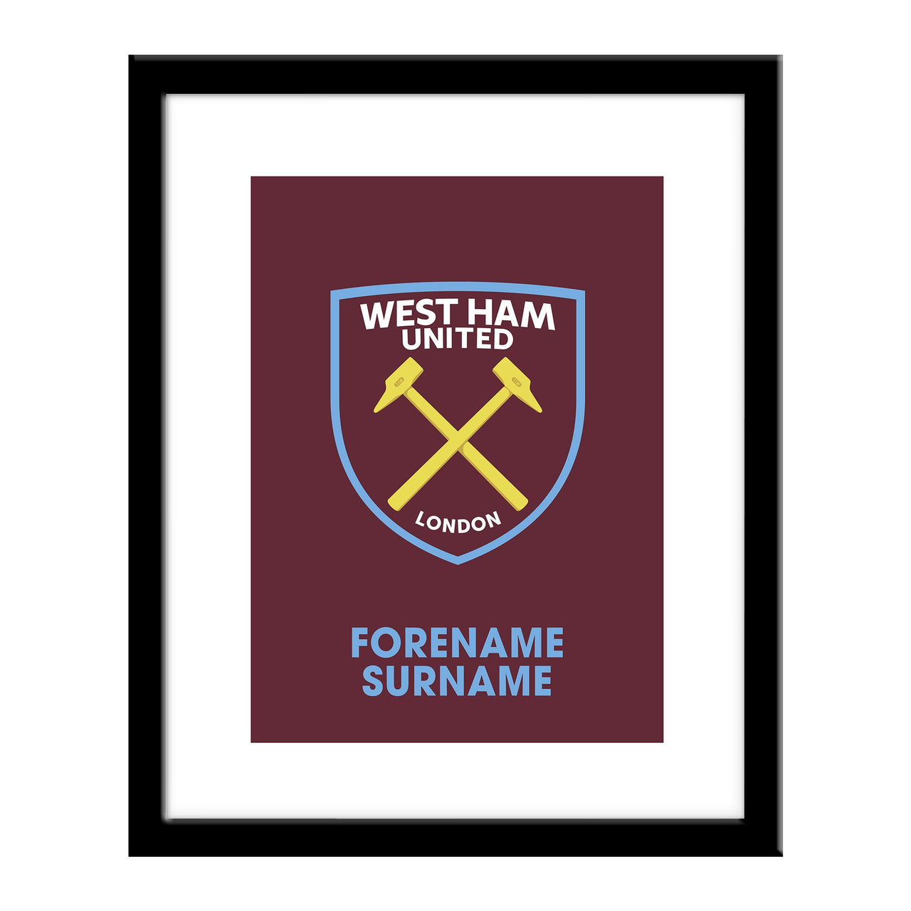 West Ham United FC Bold Crest Print