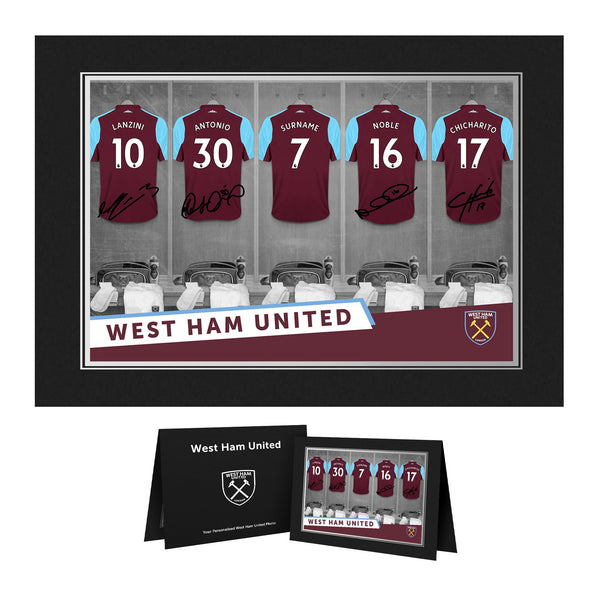 West Ham United FC 9x6 Dressing Room Photo Folder