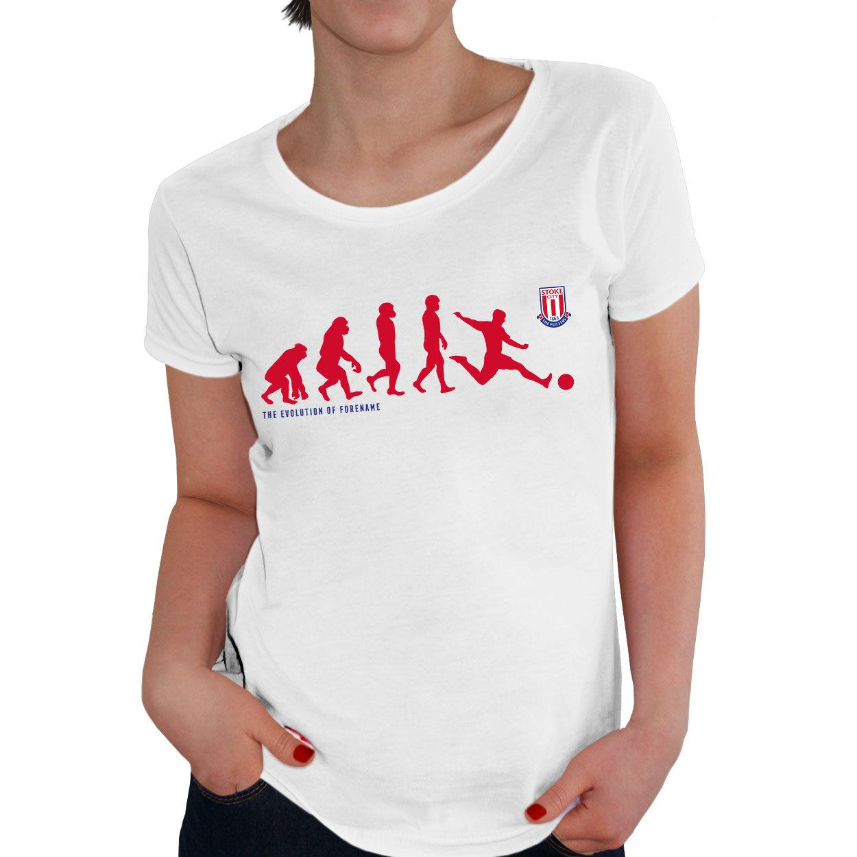 Stoke City Evolution Ladies T-Shirt