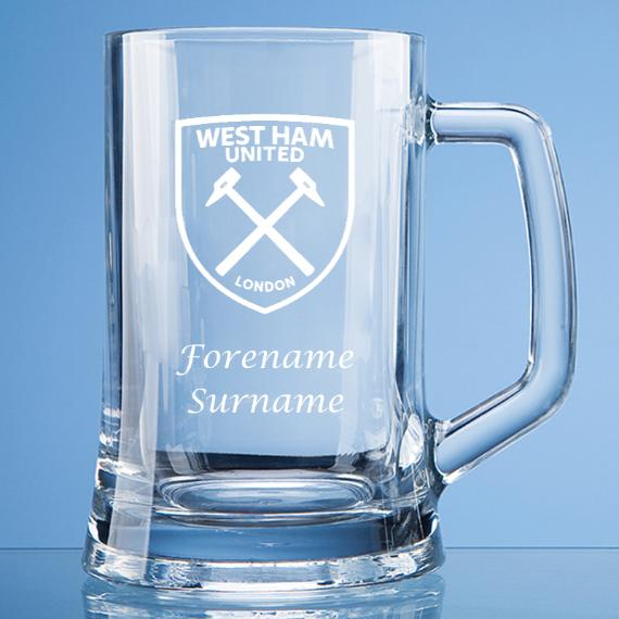 West Ham United Personalised Crest Large Straight Sided Tankard