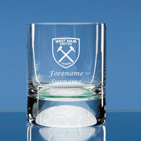West Ham United Personalised Crest Ball Base Tumbler