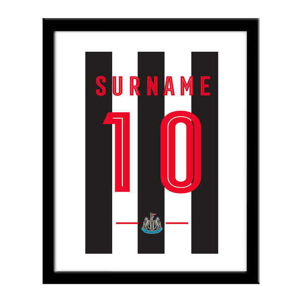 Newcastle United Retro Shirt Print