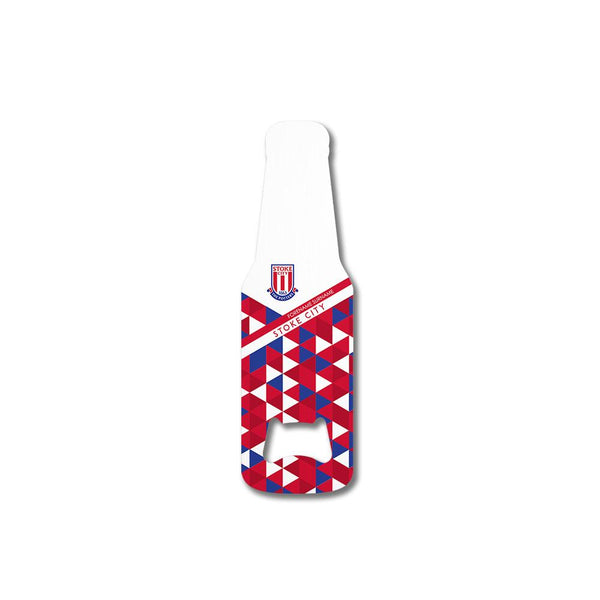 Stoke City FC Patterned Bottle Shaped Bottle Opener