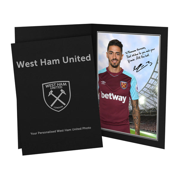 West Ham United FC Lanzini Autograph Photo Folder