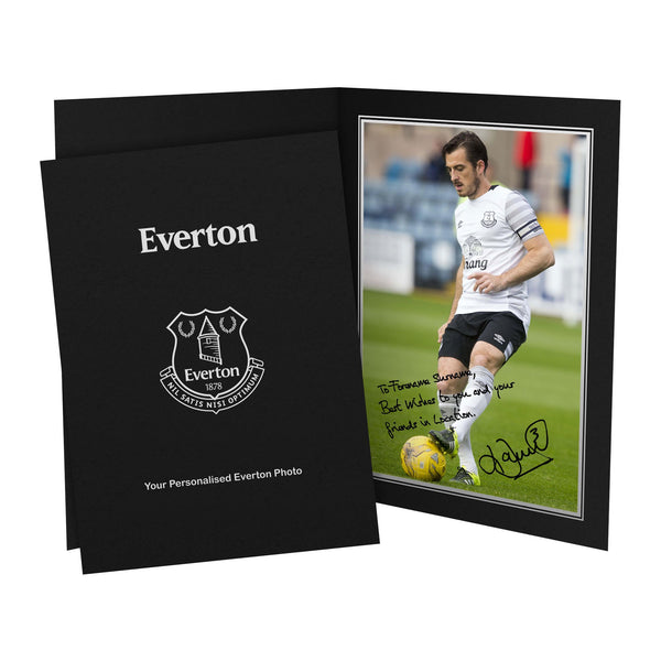 Everton FC Baines Autograph Photo Folder