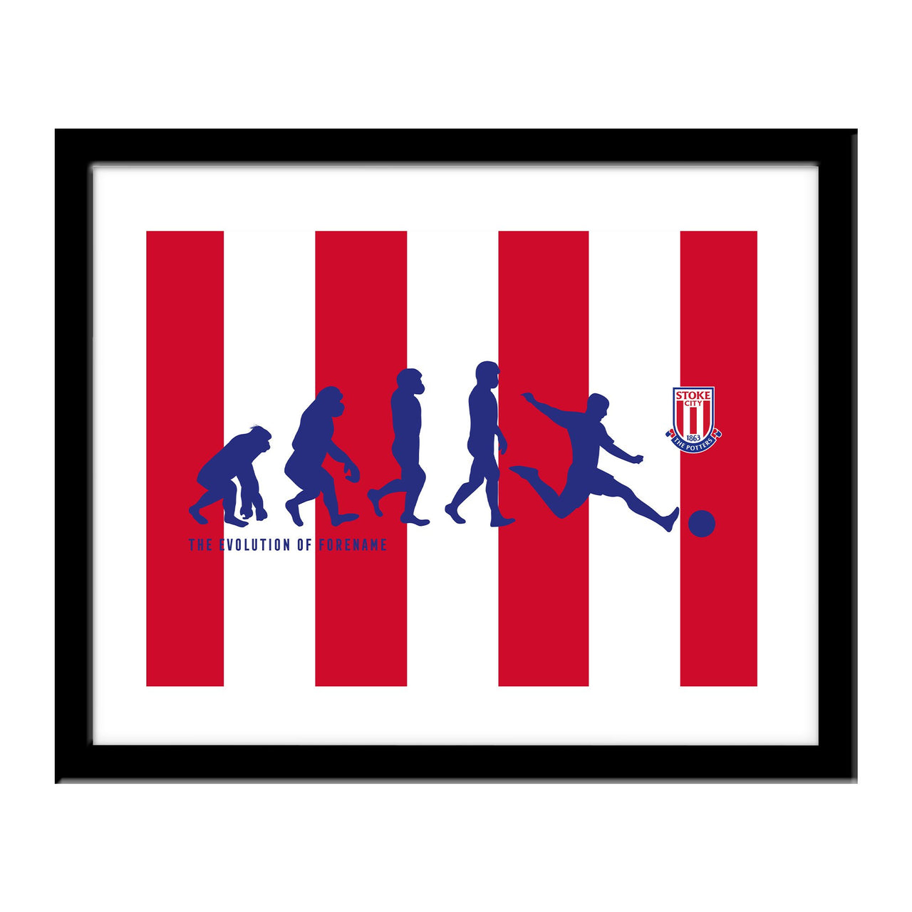 Stoke City Evolution Print