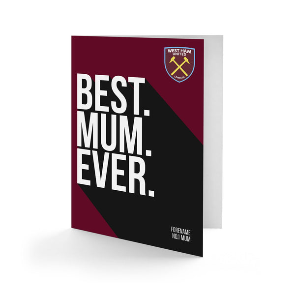 West Ham United Best Mum Ever Card