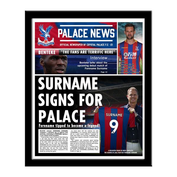 Crystal Palace FC News