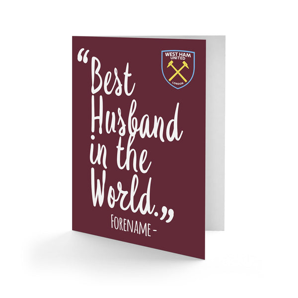 West Ham United Best Husband In The World Card