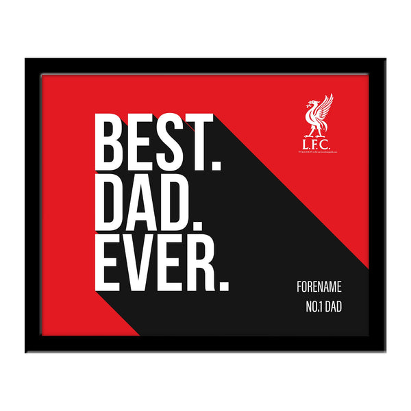 Liverpool Best Dad Ever 10 x 8 Photo Framed