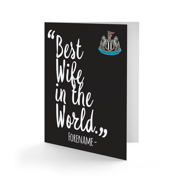 Newcastle United Best Wife In The World Card
