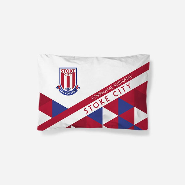 Stoke City FC Patterned Pillowcase