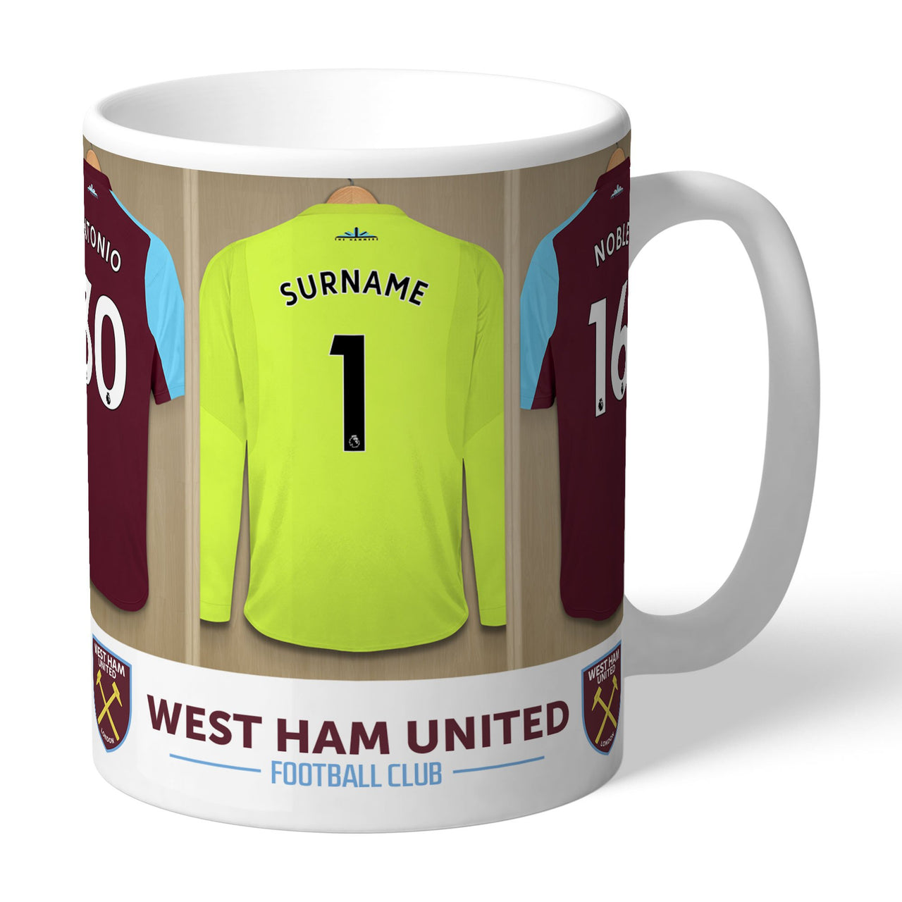 West Ham United FC Goalkeeper Dressing Room Mugs, Gifts