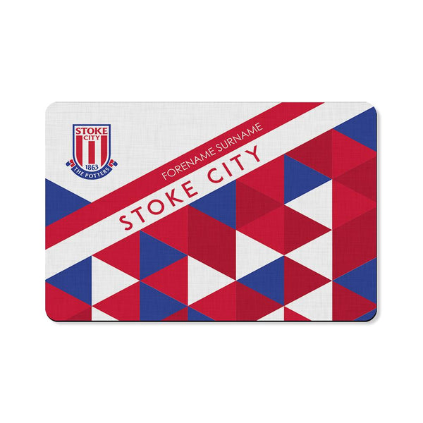 Stoke City FC Patterned Floor Mat