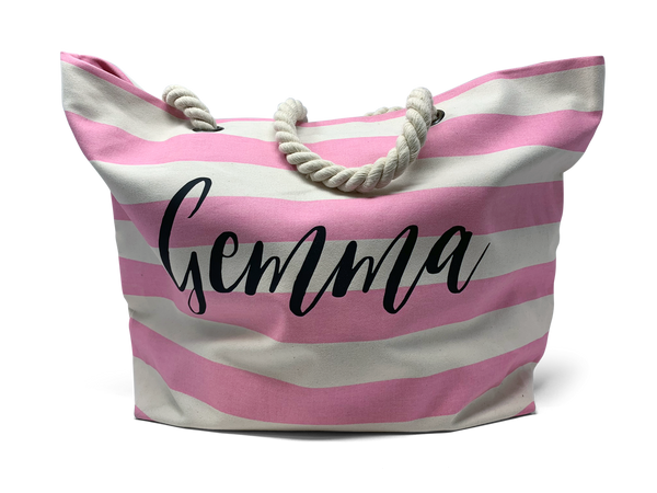 Striped Rope Tote Bag