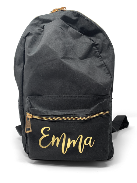 Black and Gold Rucksack Backpack  Bag