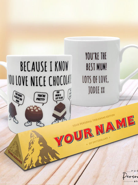 "Personalised Mug and Toblerone Bar (Use ""MD19"" for UNDER £20!)"