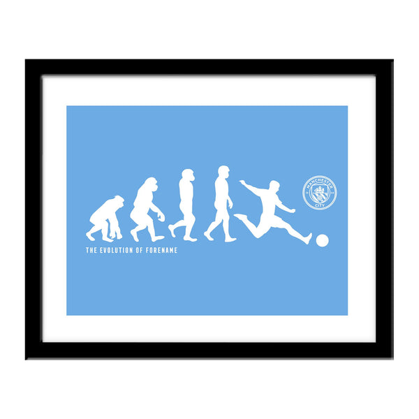 Manchester City Evolution Print