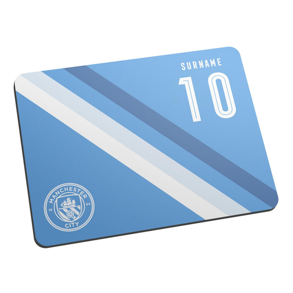 Manchester City Stripe Mouse Mat