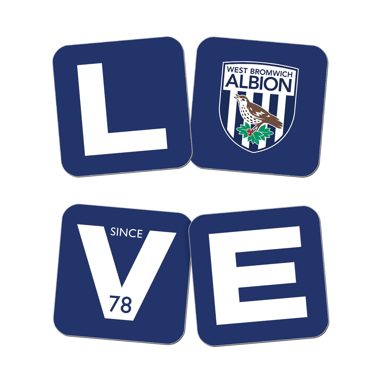 West Bromwich Albion Love Coasters (x4)