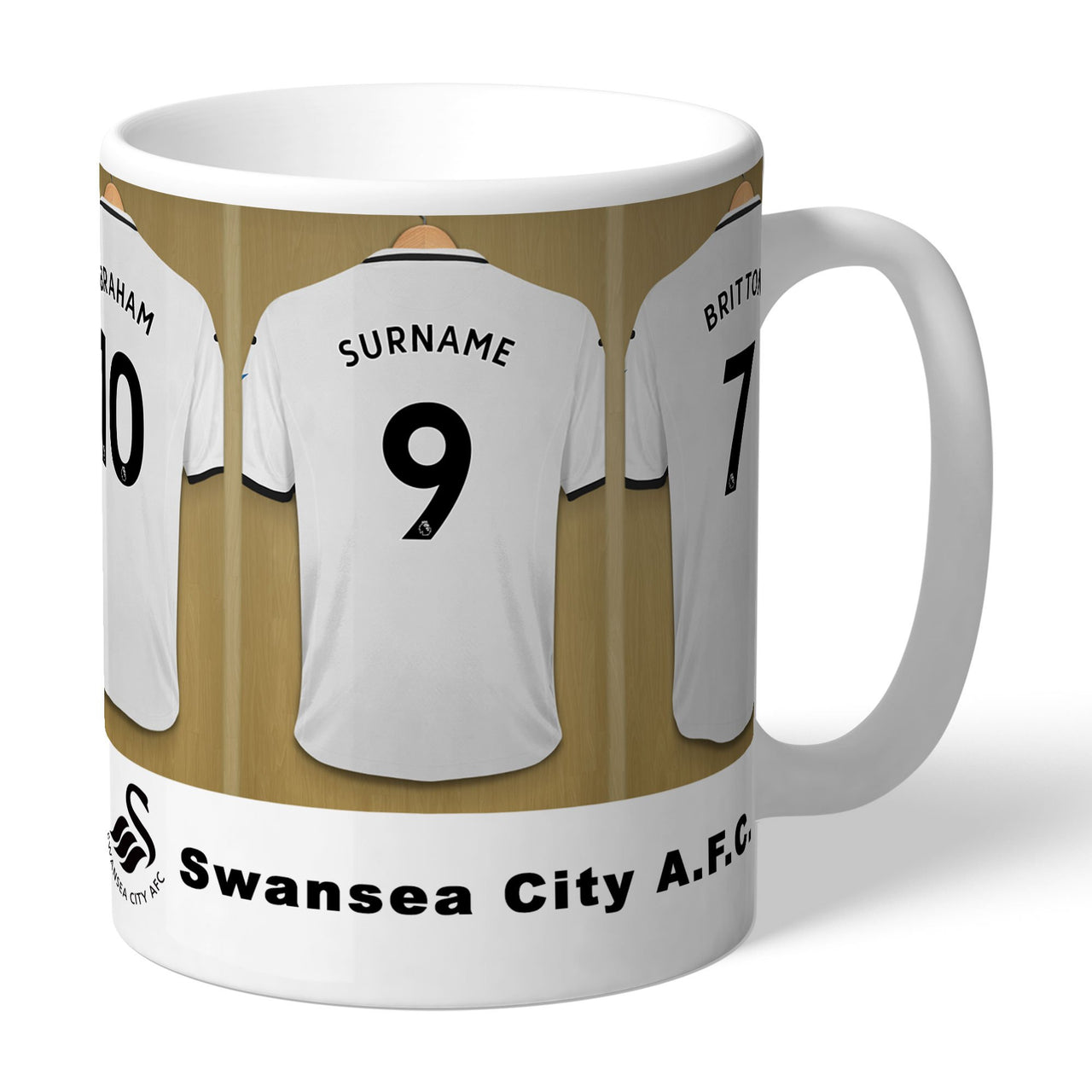 Swansea City AFC Dressing Room Mugs, Gifts