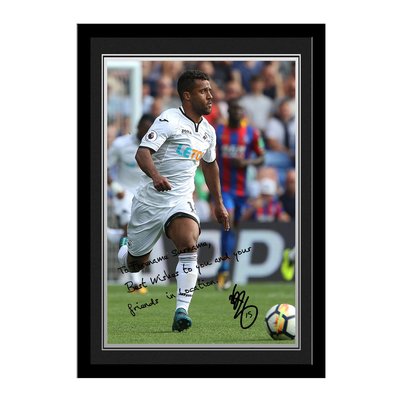 Swansea City AFC Routledge Autograph Photo Framed