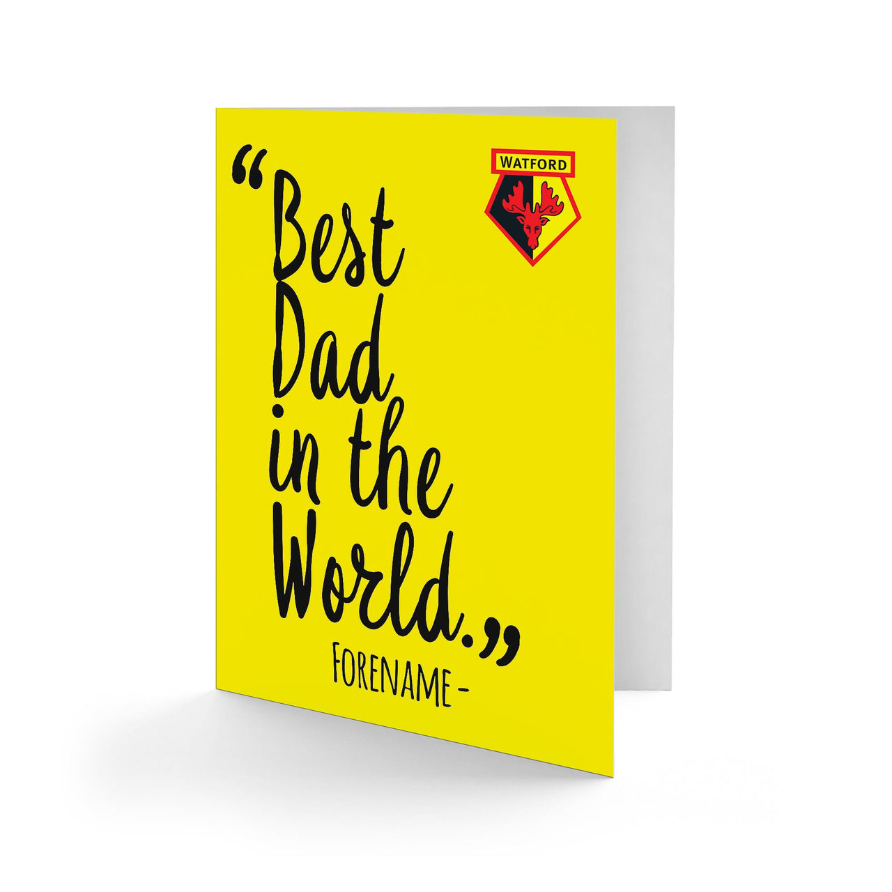 Watford Best Dad In The World Card