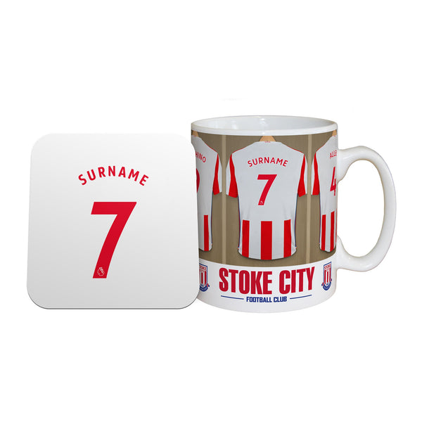 Stoke City Dressing Room Mugs, Gifts & Coaster Set