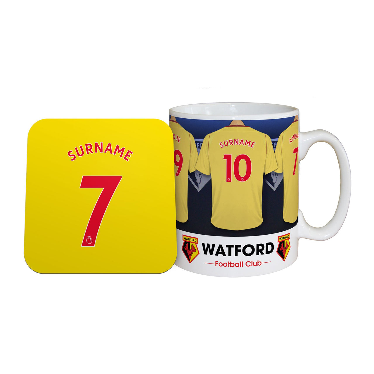 Watford Dressing Room Mugs, Gifts & Coaster Set