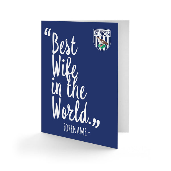 West Bromwich Albion Best Wife In The World Card