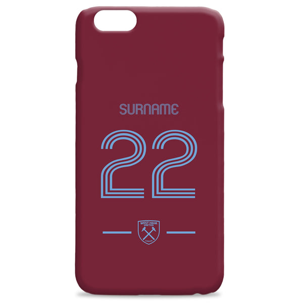 West Ham United Retro Shirt Phone Case, Gifts