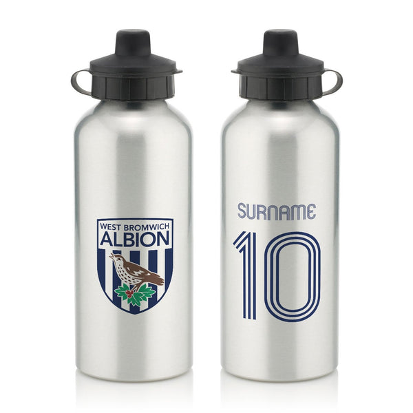 West Bromwich Albion Retro Shirt Water Bottle