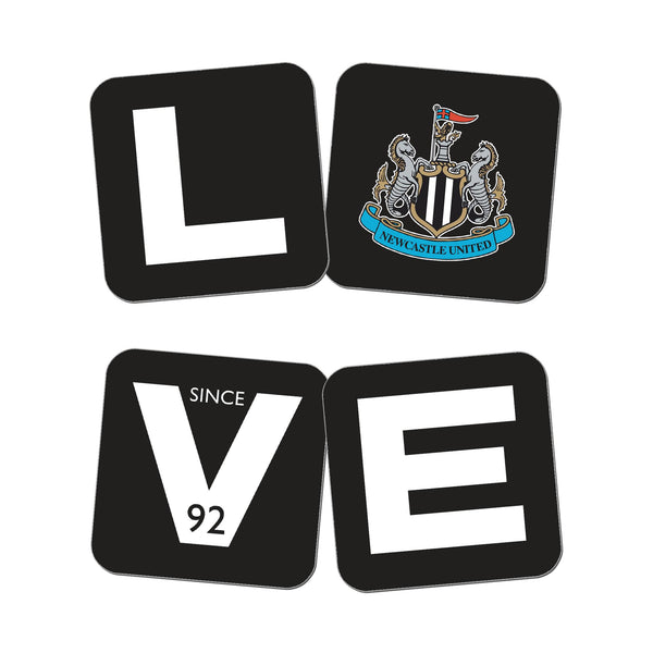 Newcastle United Love Coasters (x4)