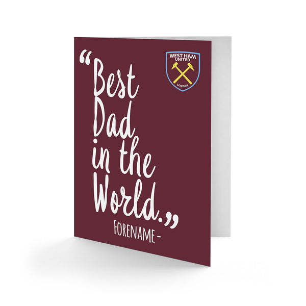 West Ham United Best Dad In The World Card