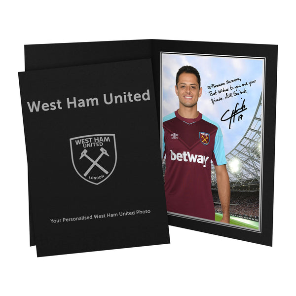 West Ham United FC Hernandez Autograph Photo Folder