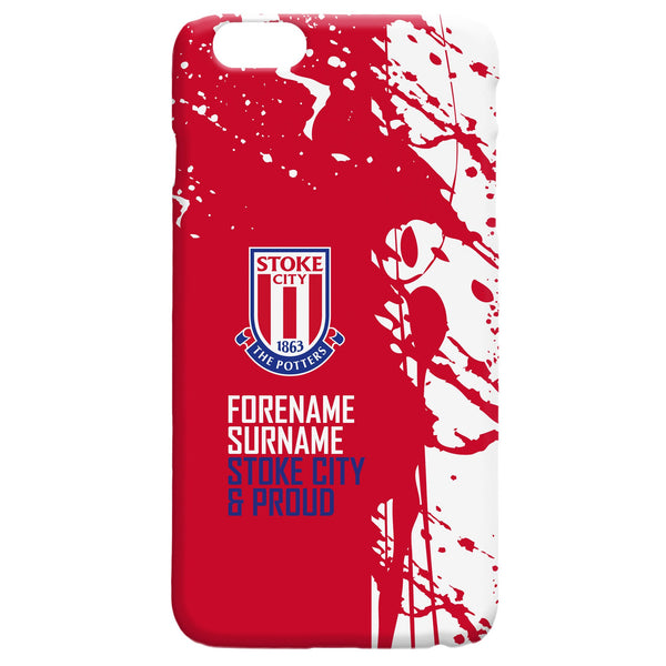 Stoke City FC Proud Hard Back Phone Case, Gifts