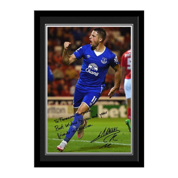 Everton FC Mirallas Autograph Photo Framed
