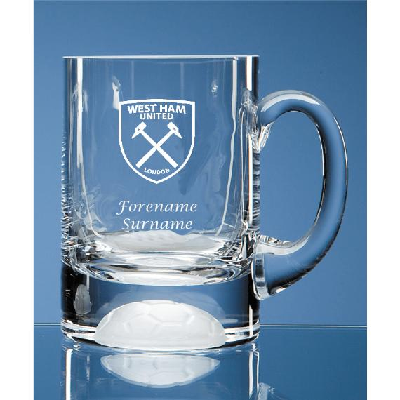West Ham United Personalised Crest Ball Base Tankard