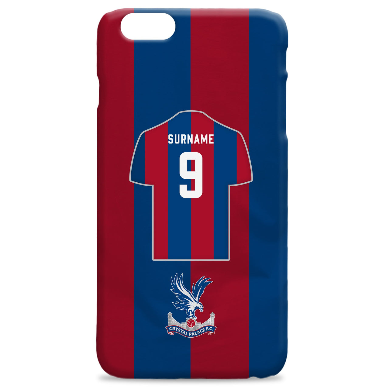 f0031fc3956b Official Personalised Crystal Palace FC Shirt Hard Back Phone Case ...
