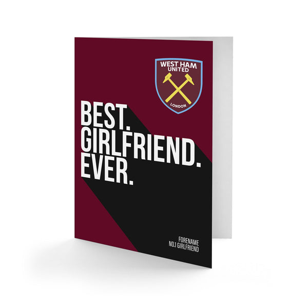 West Ham United Best Girlfriend Ever Card