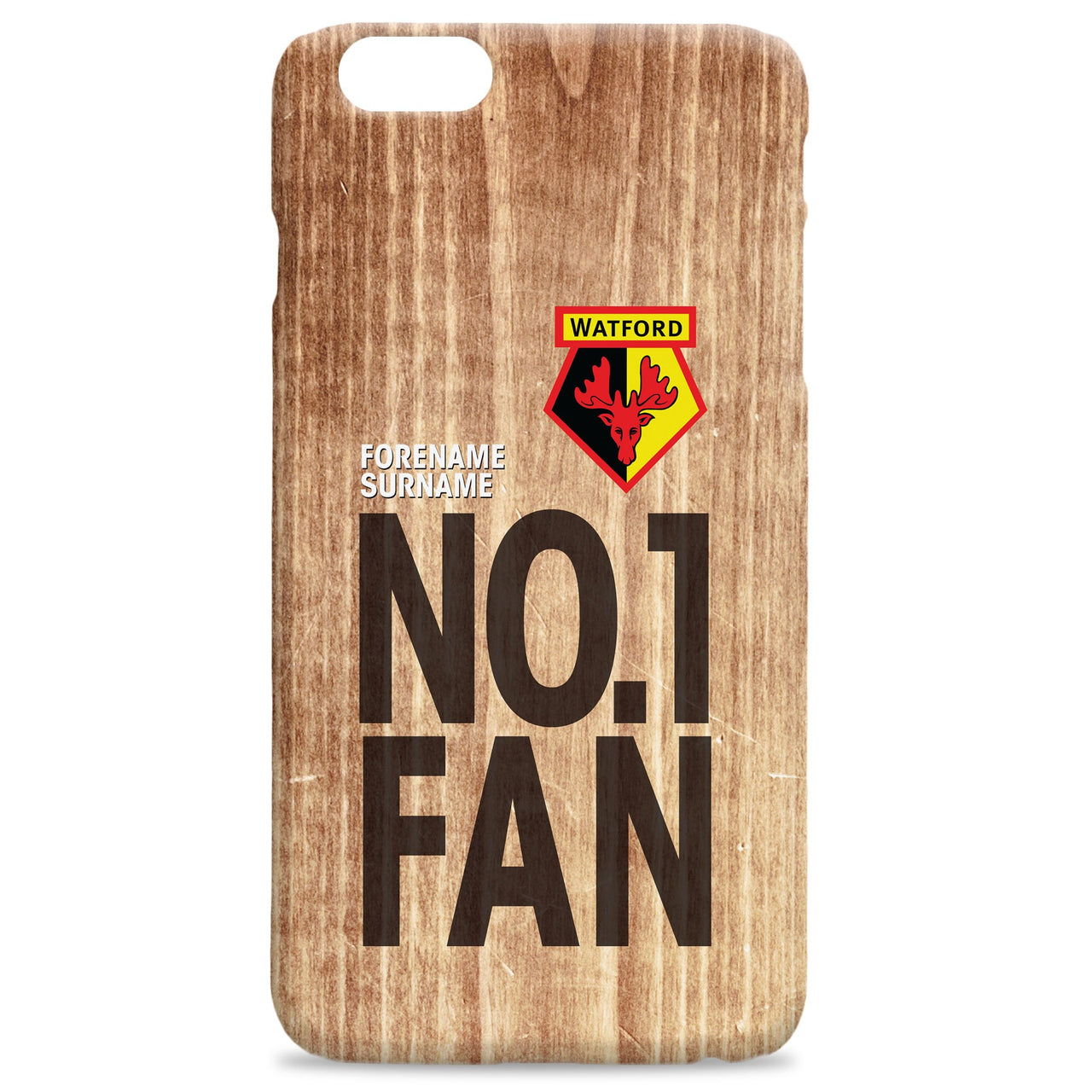 Watford FC No 1 Fan Hard Back Phone Case, Gifts