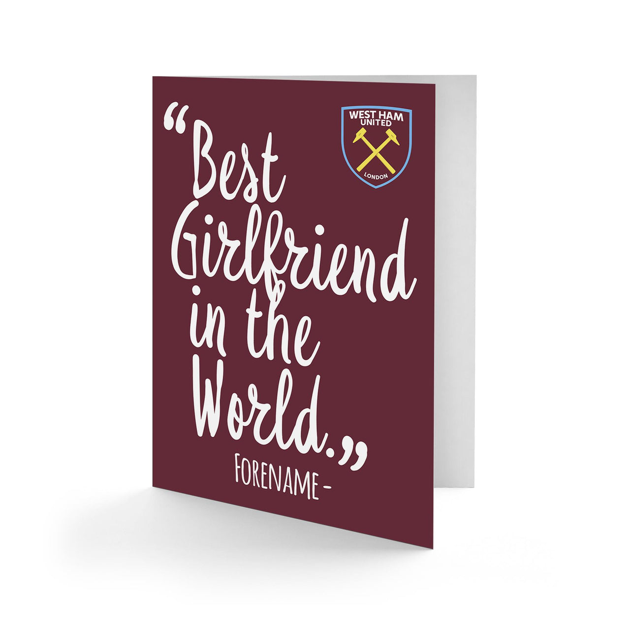 West Ham United Best Girfriend In The World Card