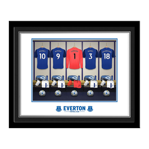 Everton FC Goalkeeper Dressing Room Photo Framed
