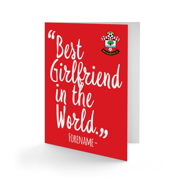 Southampton Best Girfriend In The World Card