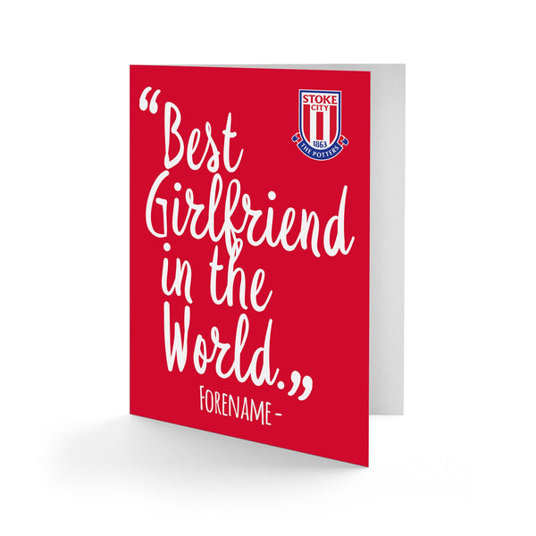 Stoke City Best Girfriend In The World Card