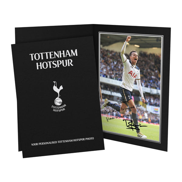 Tottenham Hotspur FC Alli Autograph Photo Folder