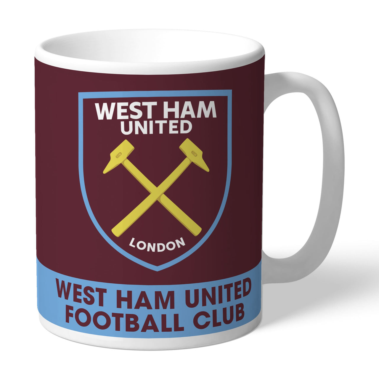 West Ham United FC Bold Crest Mugs, Gifts