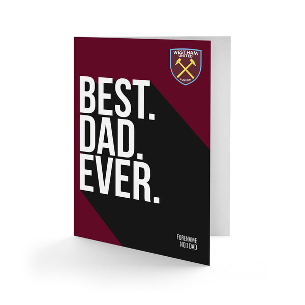 West Ham United Best Dad Ever Card